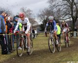 Hanka Kupfernagel leads group with Ferrand Prevot and Schweizer. © Bart Hazen