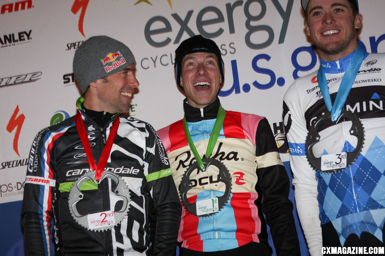 The men\'s podium: Johnson, Powers and Summerhill. ©Pat Malach