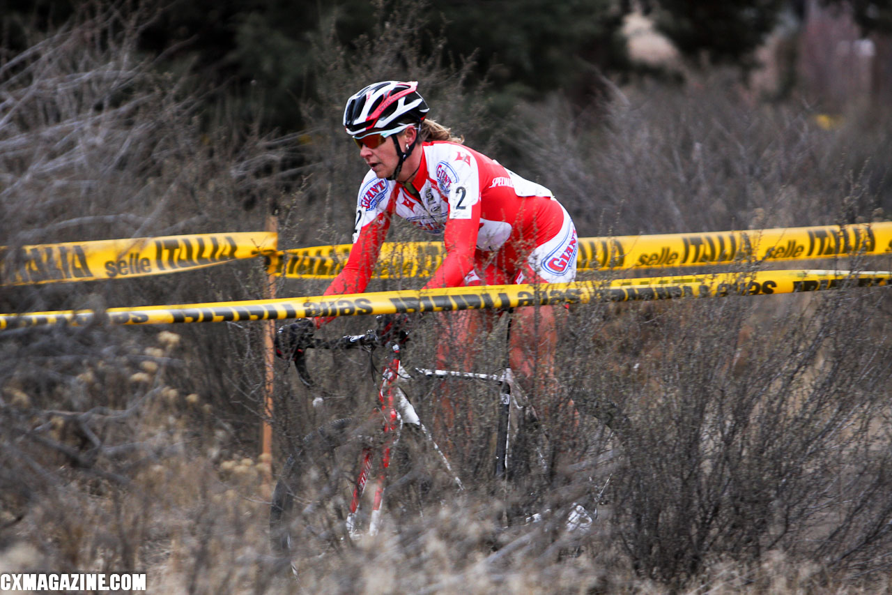 Meredith Miller suffered a flat early in the first lap and finished 24th, dropping her to third overall. ©Pat