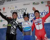 The women's overall podium: Duke, Nash and Miller. ©Pat Malach