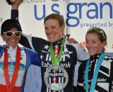 Women's podium: Nash, Compton and Antonneau. ©Rick Mace