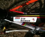The top tube on Bob's Red Mill rider Drew Dillman's bike. ©Ray Smith