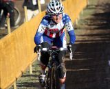 Amy Dombroski pushes through the straight. © Bart Hazen