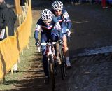 Christel Ferrier Bruneau and Pauline Ferrand Prevot race through Sankt-Wendel. © Bart Hazen