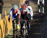 Katrin Leumann leads Gabby Day and Christine Majerus. © Bart Hazen