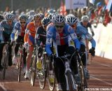 Czech Jakub Skala leads the field at the beginning of the race ©Dan Seaton