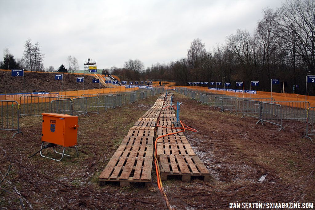 The pits are ready for tomorrow\'s action