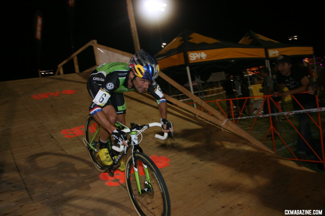 Tim Johnson descends the SPY flyover. CrossVegas 2012. ©Cyclocross Magazine