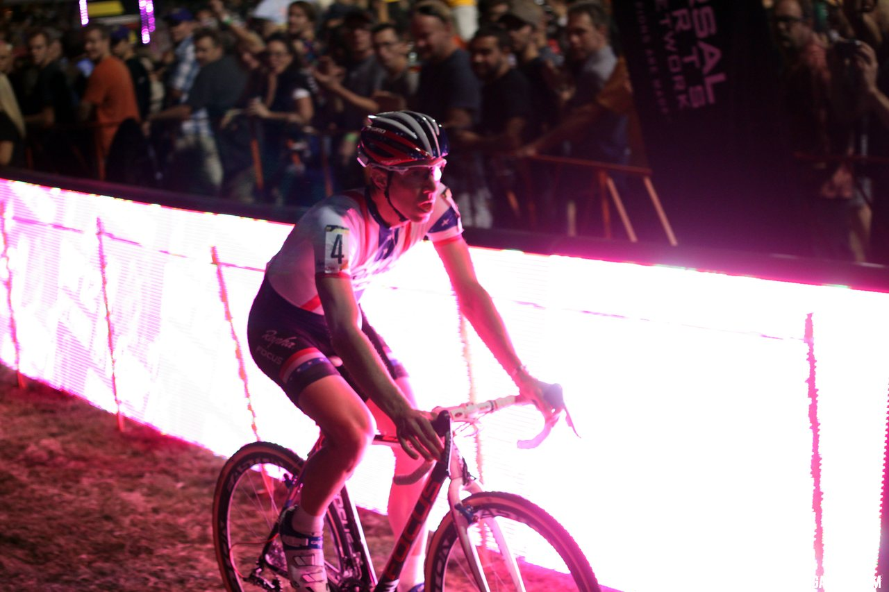 Powers lit up the course at CrossVegas 2012. ©Cyclocross Magazine
