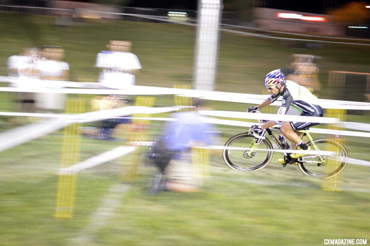 Tim Johnson chases Powers at CrossVegas 2012. ©Cyclocross Magazine