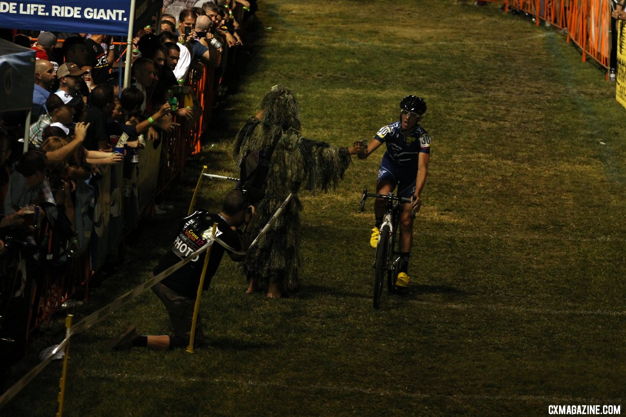 Slyfox was out there again, giving riders self-serve prize money.  CrossVegas 2012. ©Thomas van Bracht / Cyclocross Magazine