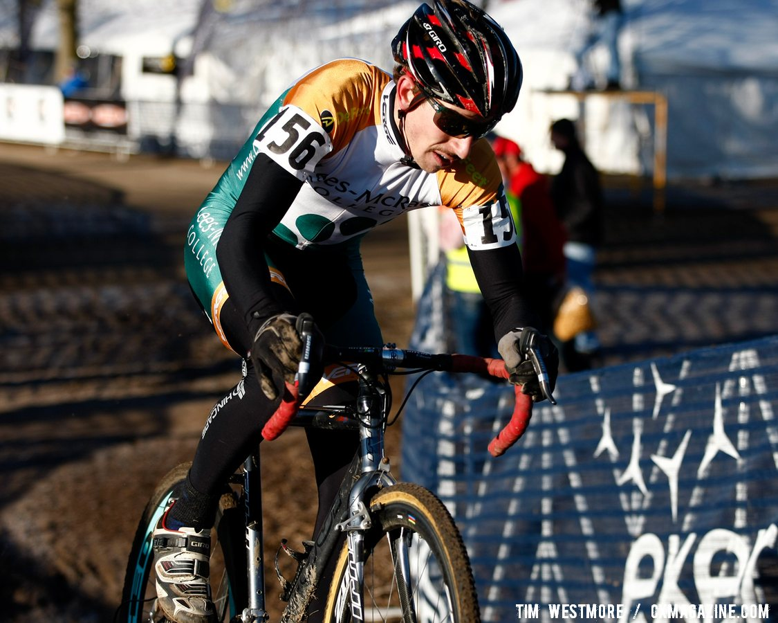 Eventual Division 1 Collegiate Men winner Kerry Werner on the attack. (Lees-McRae College)