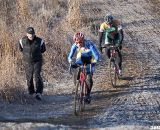 Ryan Cleveland and Davis Bentley fighting for top twenty places.  ©Cyclocross Ma