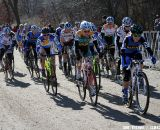 Antonneau Leads the D1 Women Out of the Start ©Amy Dykema