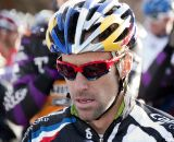 Tim Johnson in concentration before the race. ©Cyclocross Magazine