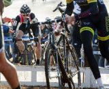 Powers hopped the barriers, even in traffic. ©Cyclocross Magazine