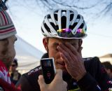 Trebon was pleased with second, but exhuasted from the effort. ©Cyclocross Magazine