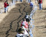 Compton hit the first hill with a huge lead. 2012 Cyclocross National Championships, Elite Women. © Cyclocross Magazine