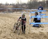Pint-sized Harrison White packed a powerful punch. Junior Men 10-12, 2012 Cyclocross National Championships. ©Cyclocross Magazine