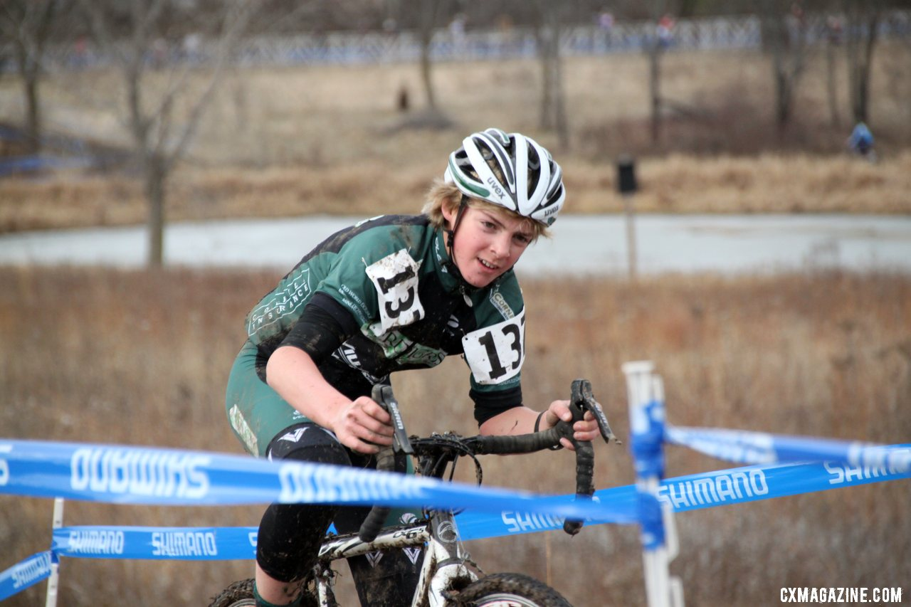 Maxx Hall - 2012 Cyclocross National Championships, Junior Men 13-14. © Cyclocross Magazine