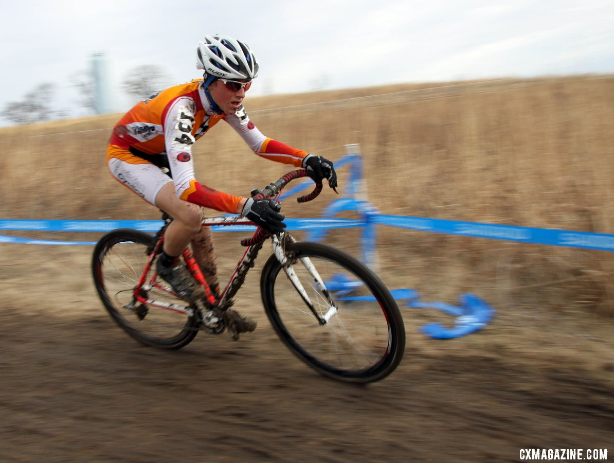 Gage Hecht won his third national championship in a dominating fashion. © Cyclocross Magazine