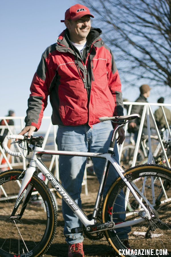 Tim Rutledge is all smiles with the Owen domination, for the second year in a row. © Cyclocross Magazine