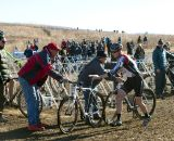 All eyes were on Logan Owen as he swapped bikes often, sometimes twice a lap. ©Cyclocross Magazine