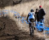 Drew Dillman on the climb chasing Owen. Junior men's 17-18 race, 2012 Cyclocross National Championships. © Cyclocross Magazine