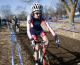 Cypress Gorry in third leading Andrew Dillman. Junior men's 17-18 race, 2012 Cyclocross National Championships. ©Cyclocross Magazine