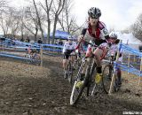 Andrea Casebolt powers through a turn. © Cyclocross Magazine