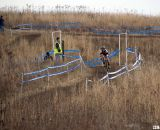 The long descent challenges riders' technical ability. © Cyclocross Magazine