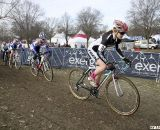Ellen Noble takes the early lead in the 17-18 Junior Women © Cyclocross Magazine