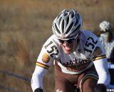 Jeffrey Hall shows the pain of the steep climbs. Masters Men 45-49, 2012 Nationals. © Cyclocross Magazine
