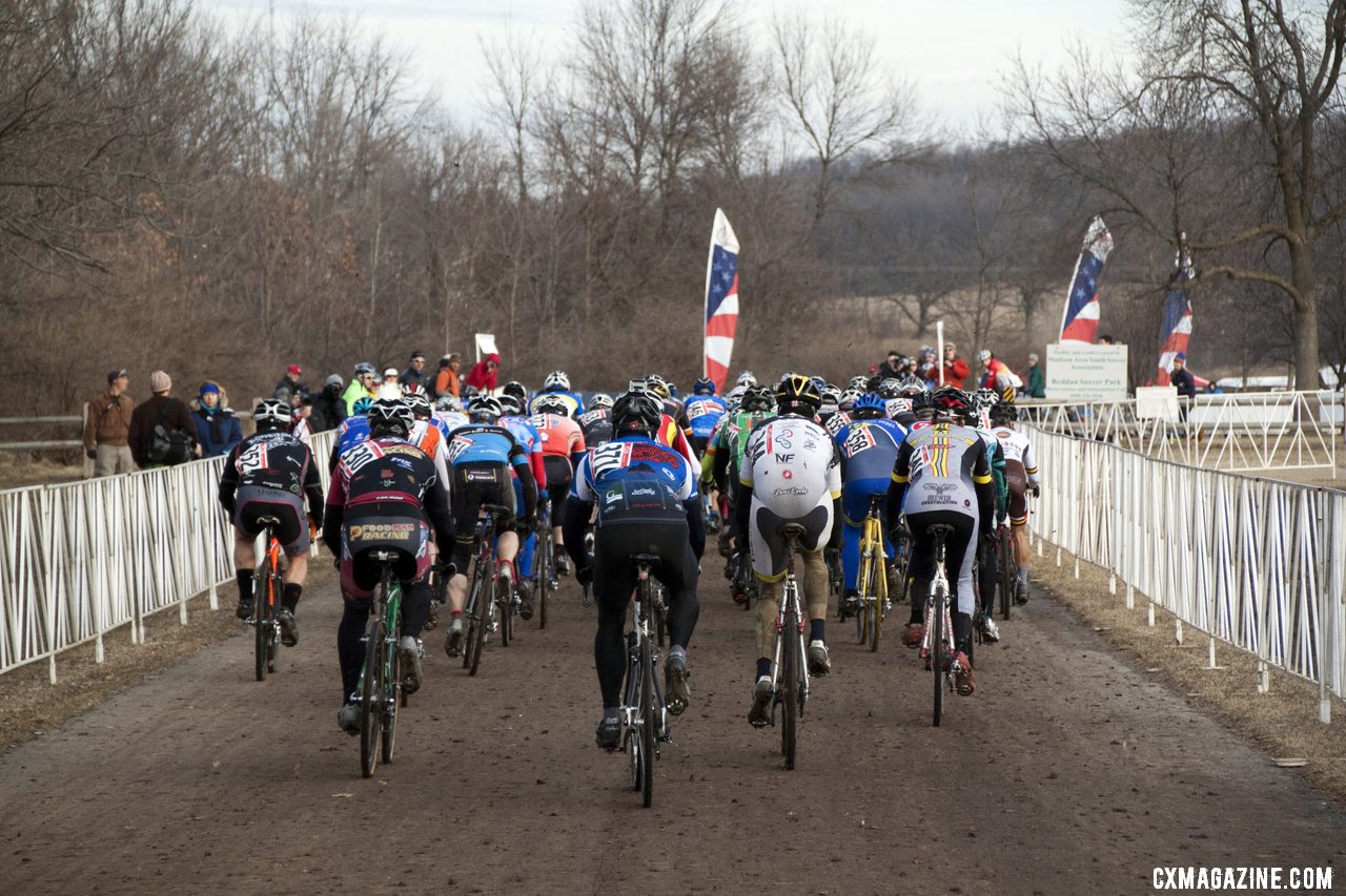The Men\'s 50-54 Fastest Start Left Some in the Dust © Cyclocross Magazine
