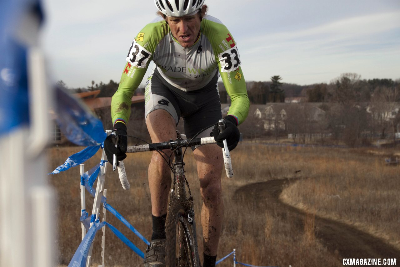 Tilford Used Every Bit of the Course to Get Traction and Maintain His Lead © Cyclocross Magazine