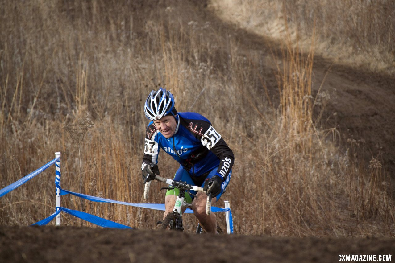 Simon Wayne of PSIMET Racing Punches Up the Second HIll Which Was Killing Riders after Several Laps © Cyclocross Magazine