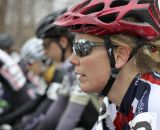 A rider awaits the start of the 30-34 Masters Women's race. © Cyclocross Magazine
