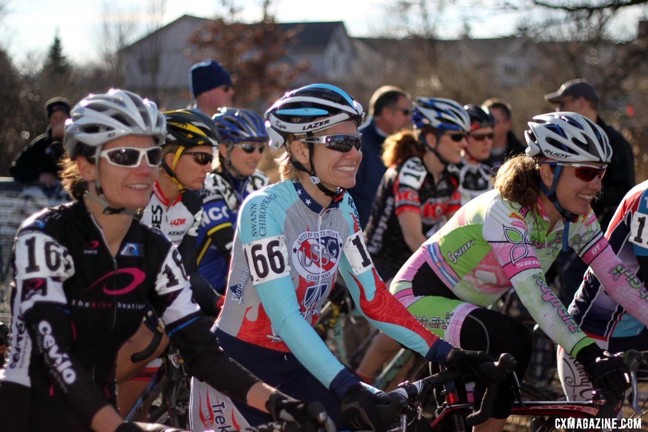Kim Flynn focuses on the task at hand. 2012 Cyclocross National Championships, Masters Women 40-44. © Cyclocross Magazine