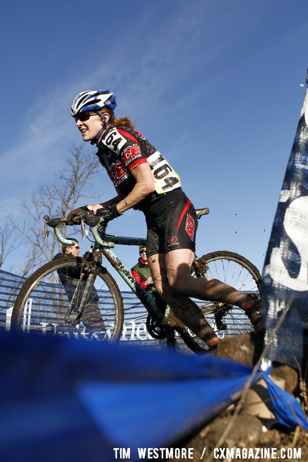 Nicole Alexander readies for the remount. 2012 Cyclocross National Championships, Masters Women 40-44. © Tim Westmore