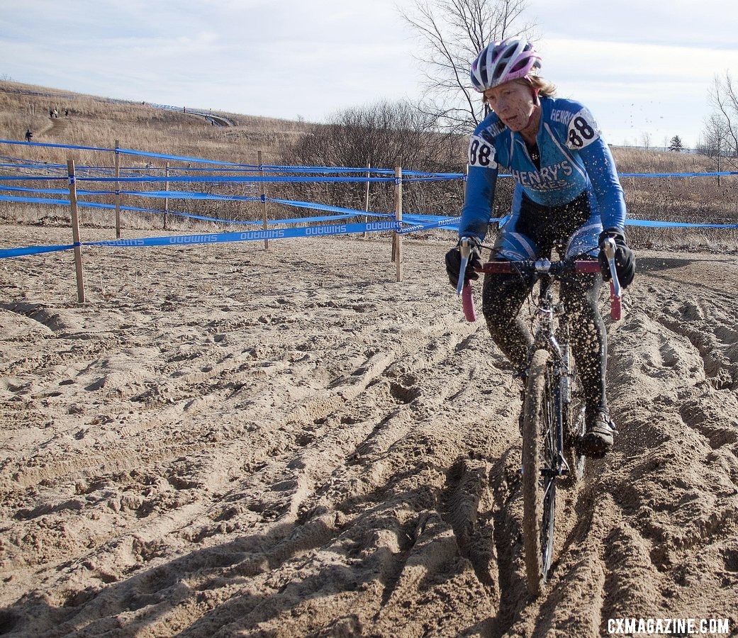 Lauri Webber, #88, would finish 8th. 2012 Cyclocross National Championships, Masters Women Over 45. © Cyclocross Magazine