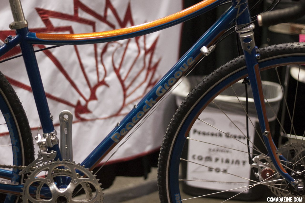 Peacock Groove at NAHBS 2012.  ©Cyclocross Magazine