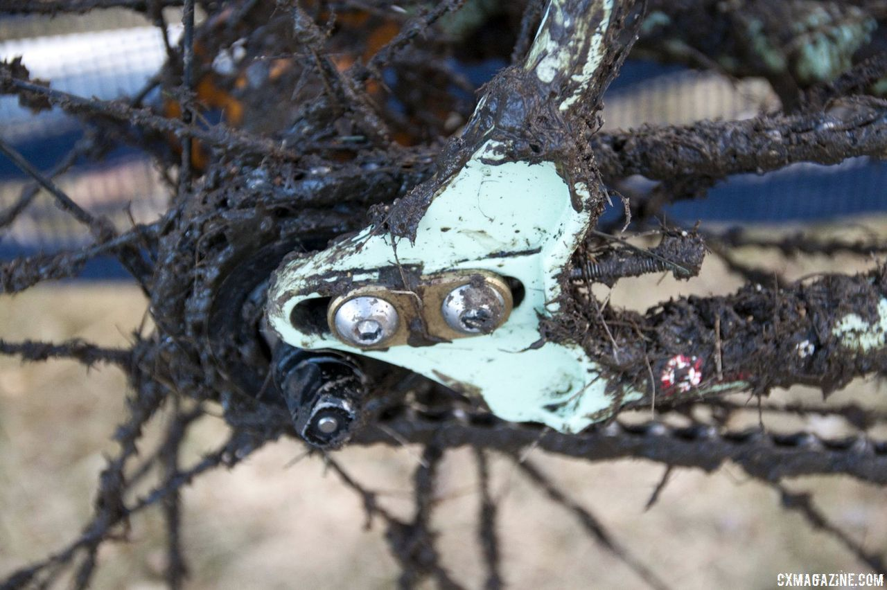 No wheel slippage allowed with Rock Lobster\'s adjustable dropouts. © Cyclocross Magazine
