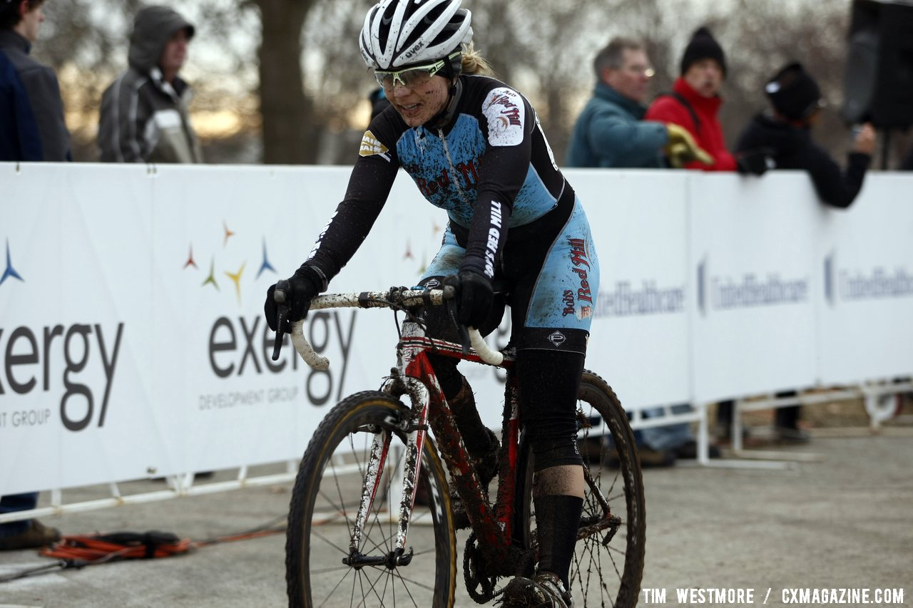 Megan Korol took the second place podium step. © Cyclocross Magazine