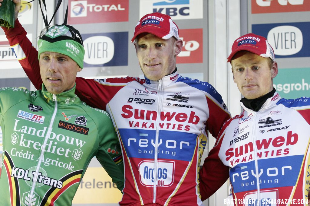 Podium: Vantornout, Nys and Pauwels © Bart Hazen