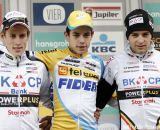 The Podium: Wout van Aert, Jens Adams, and Wietse Bosmans © Bart Hazen