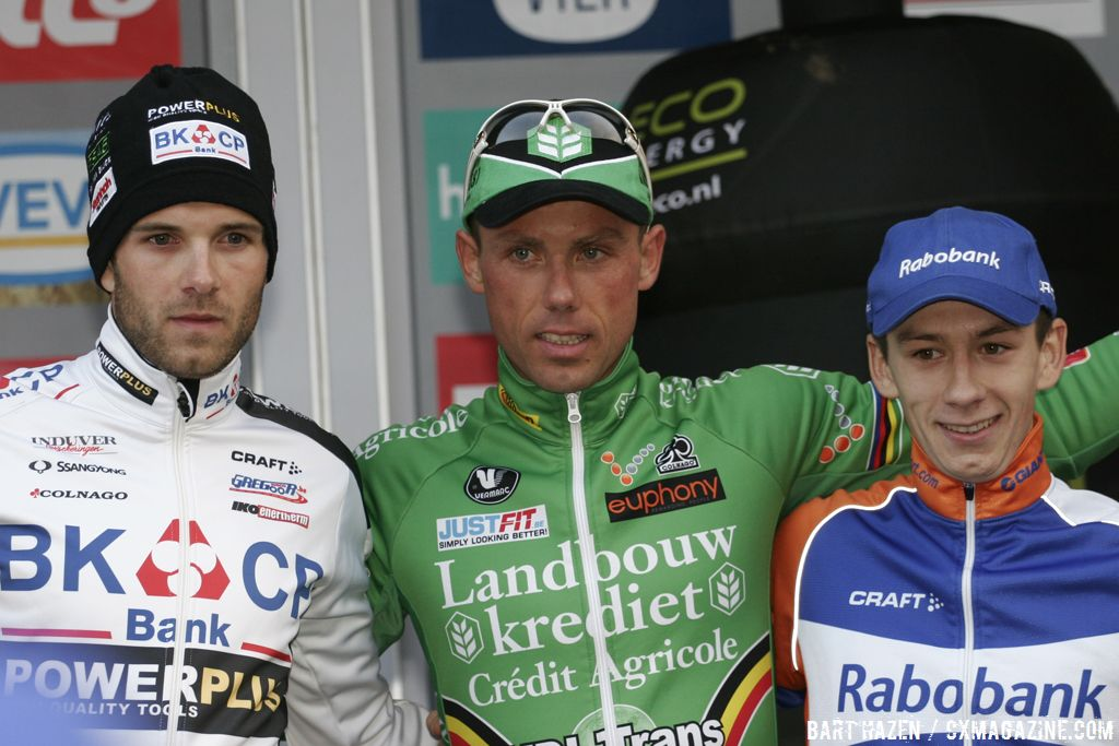 The Podium: Sven Nys, Niels Albert, and Lars van der Haar © Bart Hazen
