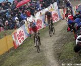 Kevin Pauwels and Klaas Vantornout leading the race © Bart Hazen