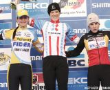 The Podium: Katie Compton, Nikki Harris and Sanne Cant © Bart Hazen