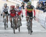 The leaders: Sven Nys, Julien Taramarcaz, Kevin Pauwels and Niels Albert © Bart Hazen