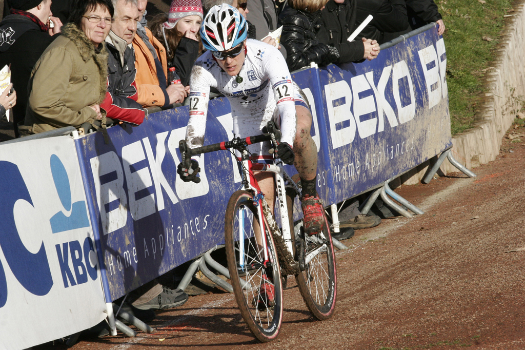 Katie Compton chased much of the race © Bart Hazen